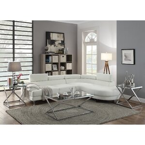 Ike Reclining Sectional  sc 1 st  AllModern : sectional sofa white - Sectionals, Sofas & Couches