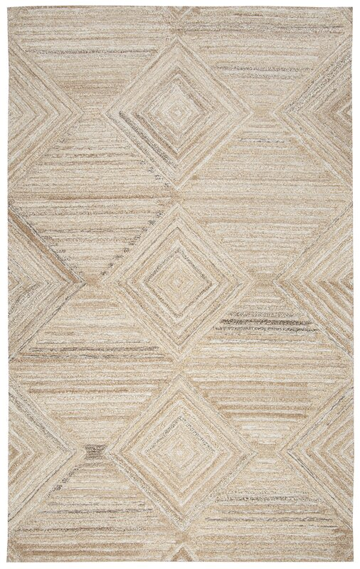 Yucca Place Hand Tufted Tan Area Rug