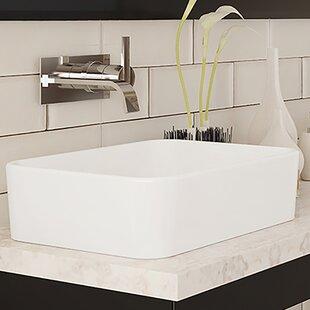 Best Gemma Classically Redefined Ceramic Rectangular Vessel Bathroom Sink By DECOLAV