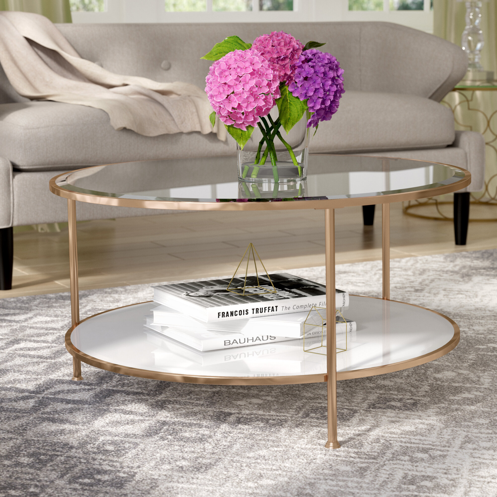 Picture of: Gold Round Coffee Tables You Ll Love In 2020 Wayfair