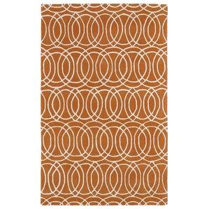Molly Orange/White Area Rug