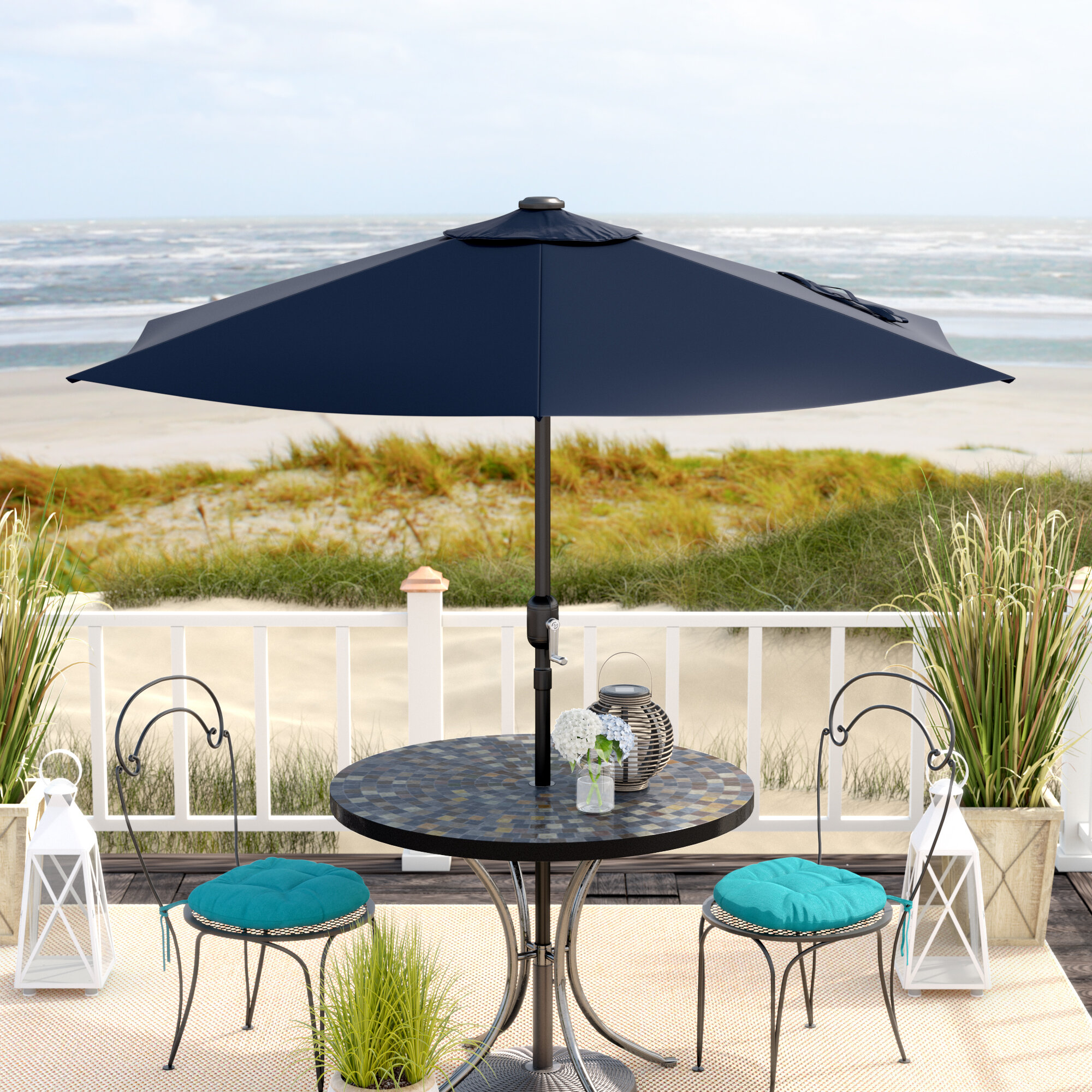 Freeport park anika 7 5 market umbrella reviews wayfair