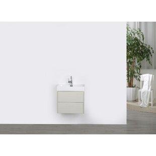 24 Wall-Mounted Single Bathroom Vanity Set