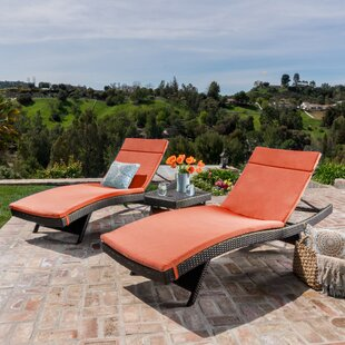 Hans Cagliari Wicker Chaise Lounge Set with Cushion