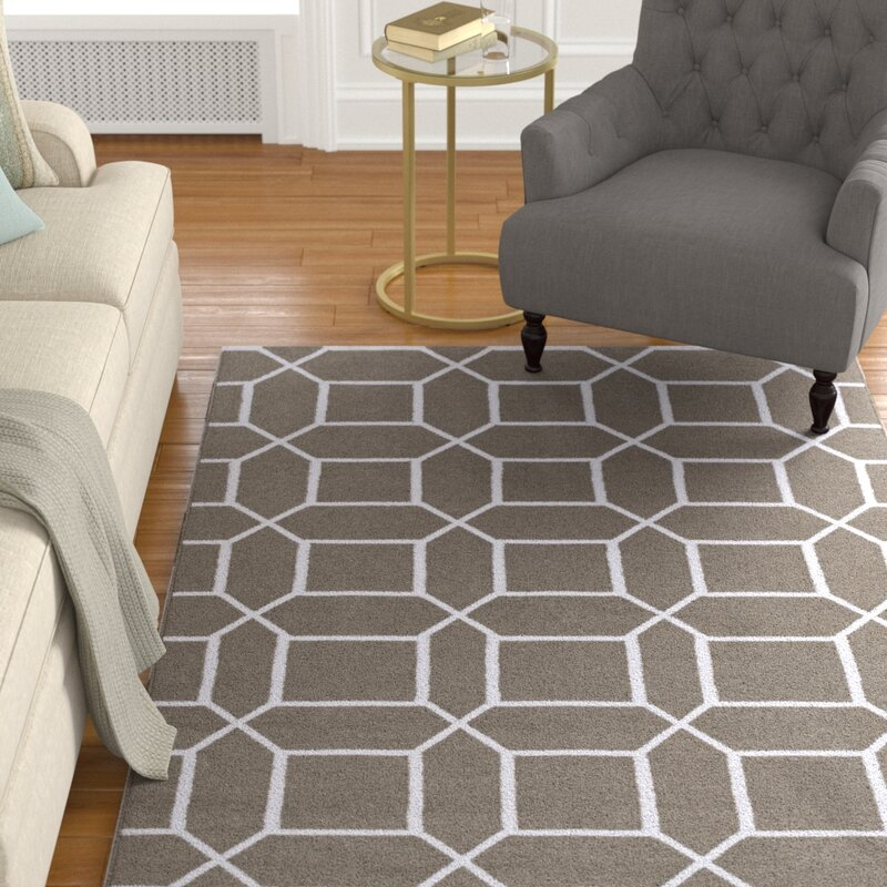 Charlton Home Larksville Geometric Handwoven Brown Ivory Indoor Outdoor Area Rug Reviews Wayfair