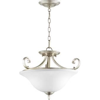 Longshore Tides Campagna Deco Swirl 1 Light Single Globe Pendant Wayfair