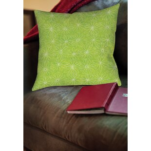 Funky Florals Daisy Sketch Printed Throw Pillow