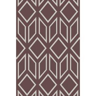 Read Reviews Hardman Hand-Tufted Chocolate/White Area Rug ByBrayden Studio