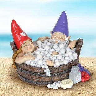 Sanora Solar Gnomes In Bubble Bath Statue By Red Barrel Studio