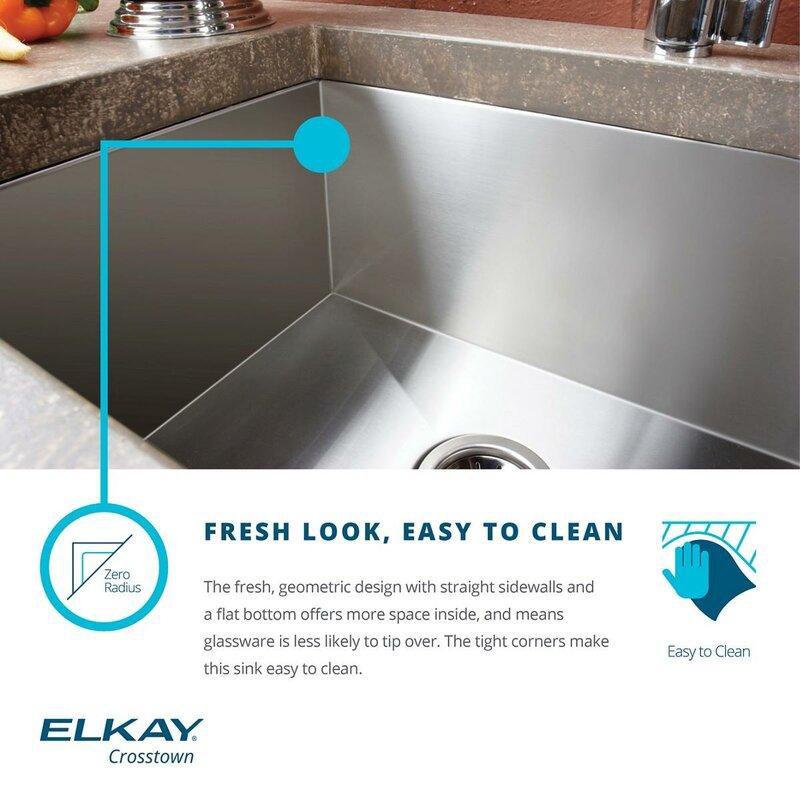 crosstown 31   x 19   undermount kitchen sink elkay crosstown 31   x 19   undermount kitchen sink  u0026 reviews   wayfair  rh   wayfair com