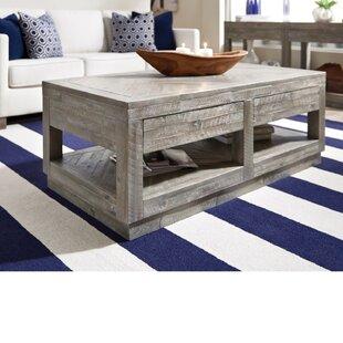 Brayden Studio Maryville 2 Drawer and Bottom Shelf Coffee Table with Storage