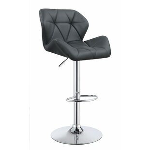 Worthley Adjustable Height Swivel Bar Stool (Set of 2) by Orren Ellis