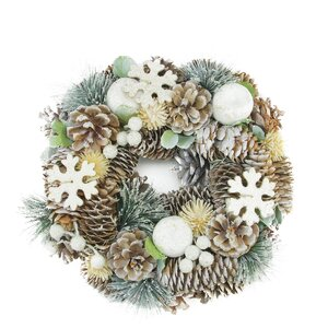 Pine Cone and Fruit Artificial Christmas Wreath