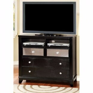 World Menagerie Clarion Textured Modern Media 4 Drawer Chest Image