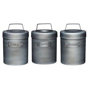Kitchen 3 Piece Coffee Tea Sugar Set