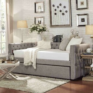 Full Scribner Button Tufted Daybed with Trundle by Three Posts