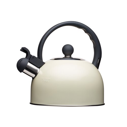 Living Nostalgia 1.4L Stainless Steel Whistling Stovetop Kettle KitchenCraft