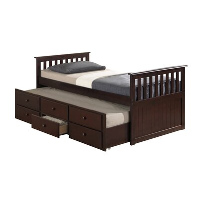 Broyhill® Marco Island Captain's Bed with Trundle Bed and Drawers Color: Espresso, Size: Full