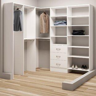 Affordable Demure Design 78.25W - 81W Closet System ByTidySquares Inc.