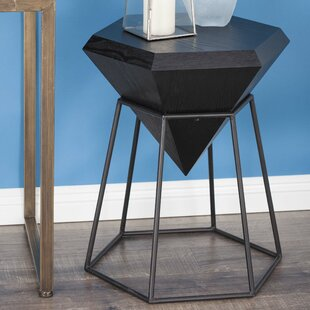 Metal Diamond End Table