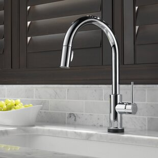 Review Trinsic Pull Down Touch Single Handle Kitchen Faucet with MagnaTite® Docking and Touch2O® Technology and Diamond Seal Technology by Delta