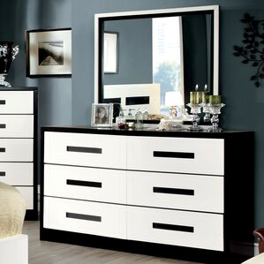 Verzaci 6 Drawer Dresser with Mirror by Hokku Designs