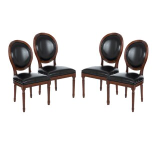 Compare prices Schofield Vintage French Round Upholstered Side Chair (Set of 4) by Darby Home Co Reviews (2019) & Buyer's Guide