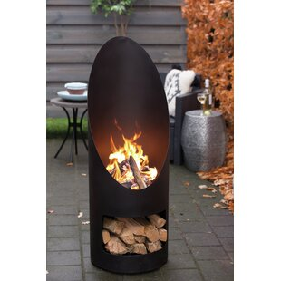 Aylsham Steel Wood Burning Outdoor Fireplace By Sol 72 Outdoor