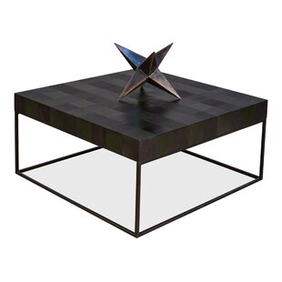Firth Checkerboard Coffee Table Square with Tray Top