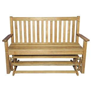 Teak Glider Garden Bench by Regal Teak