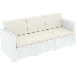 Vedder Resin Patio Sofa with Cushion