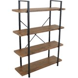 Salamon 55 H x 12.75 W Steel Etagere Bookcase by 17 Stories