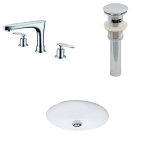Big Save Ceramic Oval Undermount Bathroom Sink with Faucet and Overflow ByAmerican Imaginations