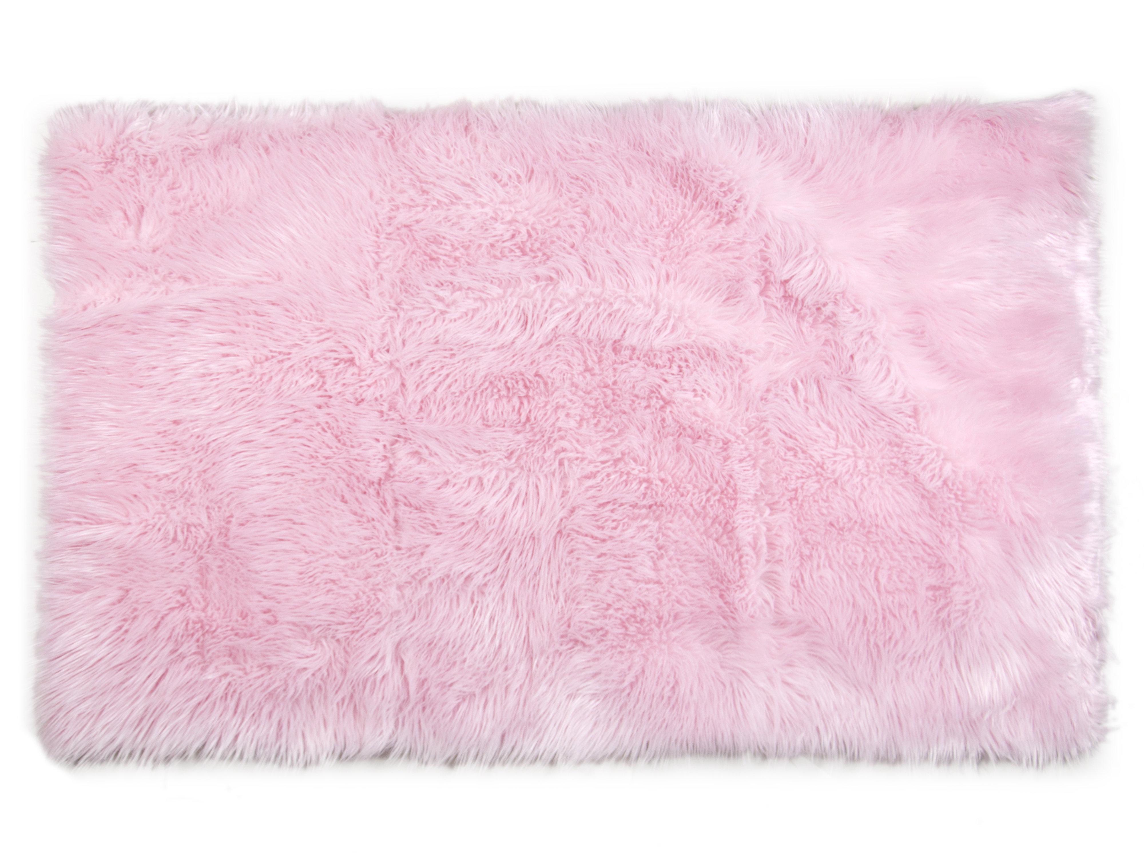Rosdorf Park Ashton Shag Pink Area Rug Reviews Wayfair