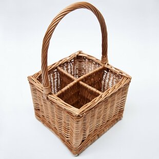 4 Bottle Carrier Willow Basket By Brambly Cottage