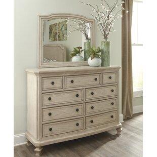 Lark Manor Bretenieres 9 Drawer Dresser with Mirror