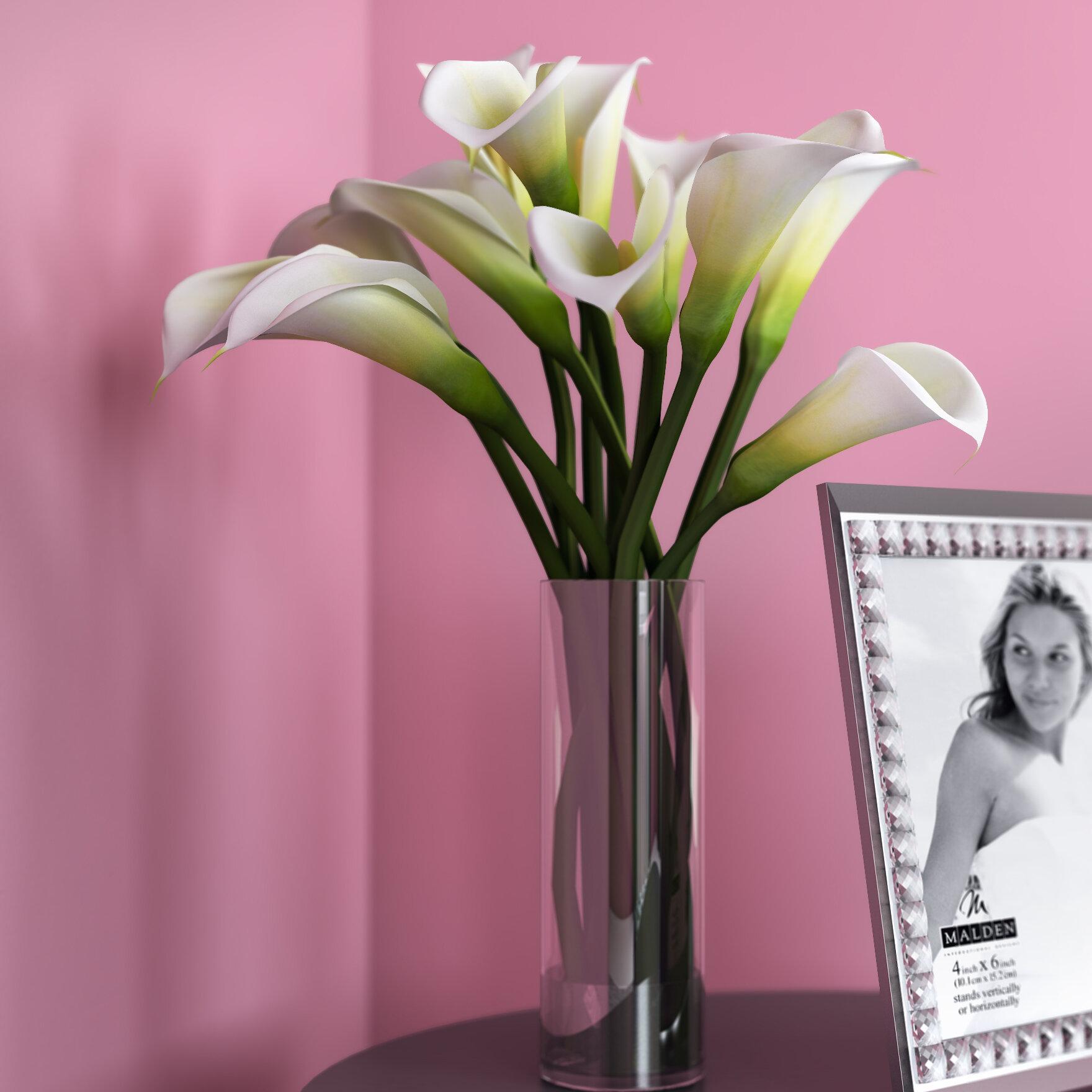 Calla lily flower arrangement in tall vase reviews joss main reviewsmspy