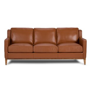 Cornish Leather Sofa by Foundry Select