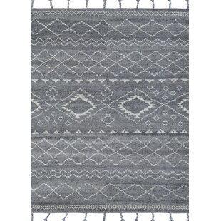 Reviews Arnoldo Inca Stone Hand-Knotted Wool Gray/White Area Rug ByFoundry Select