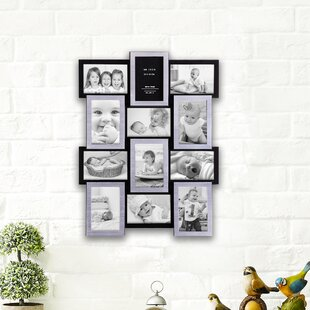 K Gallery Collage Wall Hanging 12 Opening Photo Sockets Picture Frame