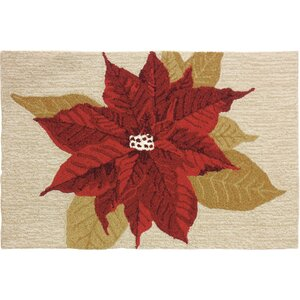 Dieterich Beige/Red Area Rug