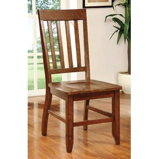 Ashlynn Solid Wood Dining Chair (Set of 2) Loon Peak