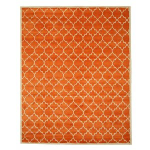 Durrant Hand Tufted Orange Area Rug