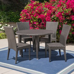 Wrought Studio Corchado Outdoor 5 Piece Dining Set