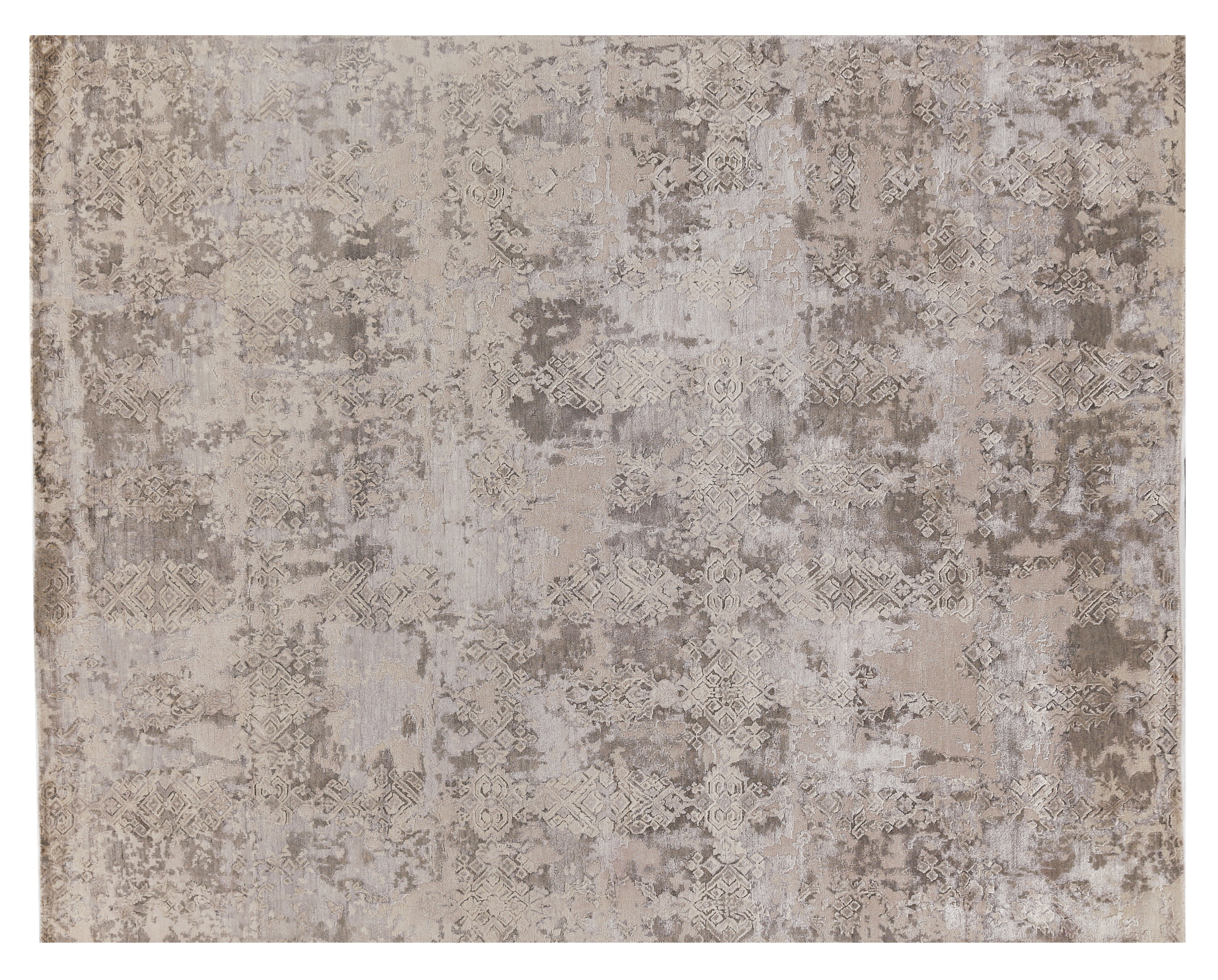 Exquisite Rugs Hundley Hand Knotted Wool Silk Gray Silver Area Rug Wayfair
