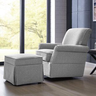 Bersum Swivel Glider and Ottoman by Mack & Milo