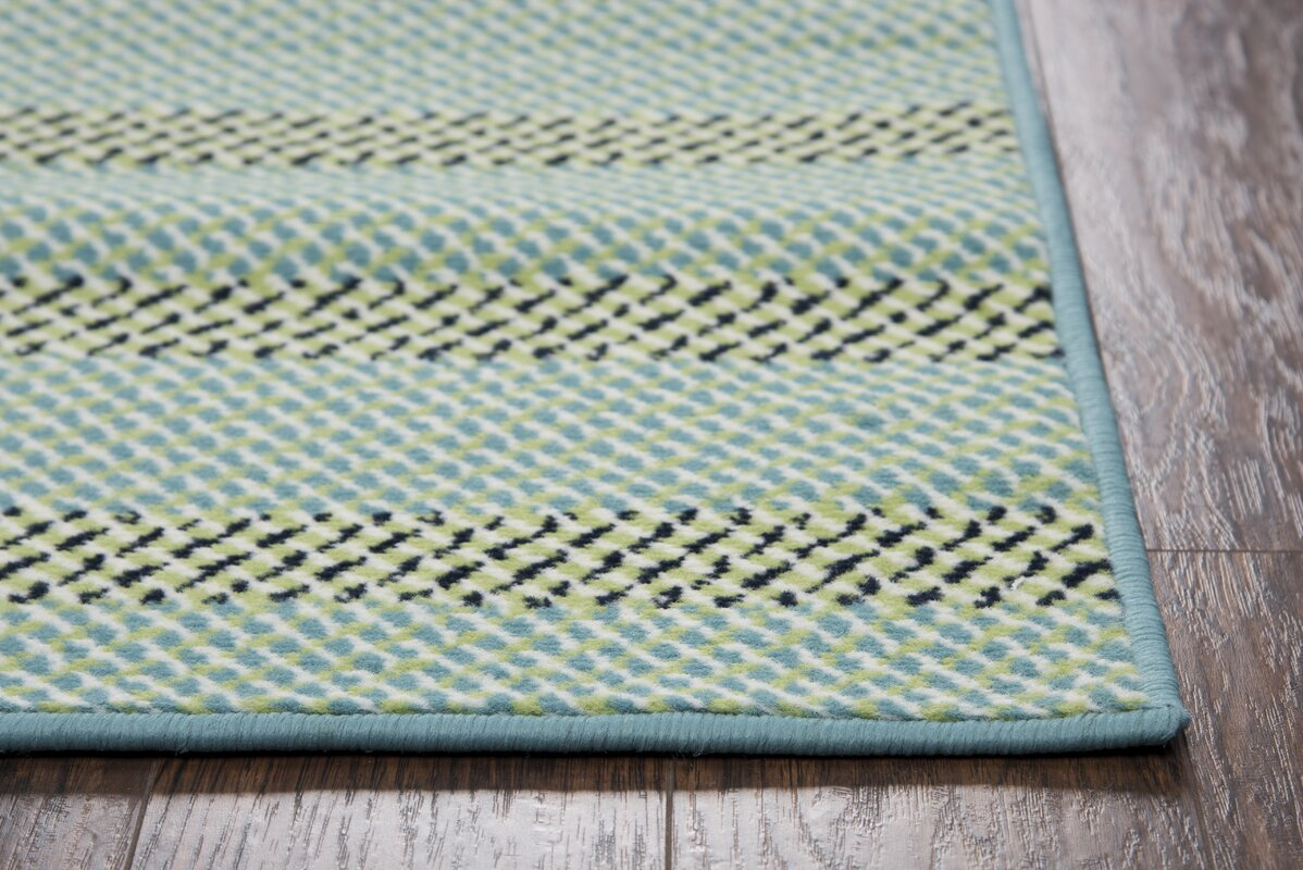 Andover Mills Carson Blue Aqua Indoor Outdoor Area Rug