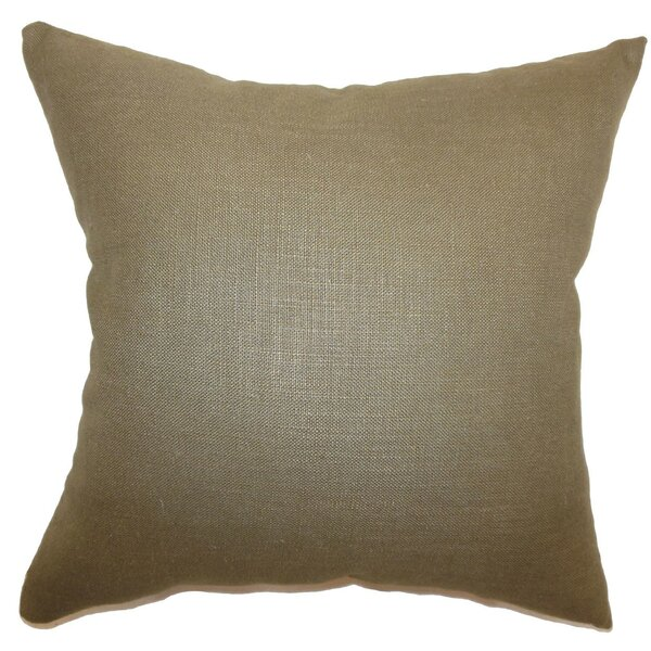 The Pillow Collection Cameo Solid Throw Pillow Cover Hickory