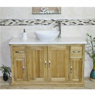 Deem Solid Oak 1230mm Free-Standing Vanity Unit By Belfry Bathroom