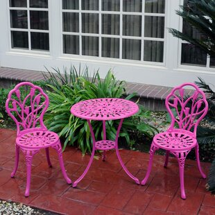 Mulic 3 Piece Bistro Set